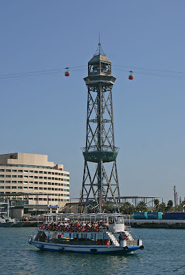 Funicular Tower in Port Barcelona