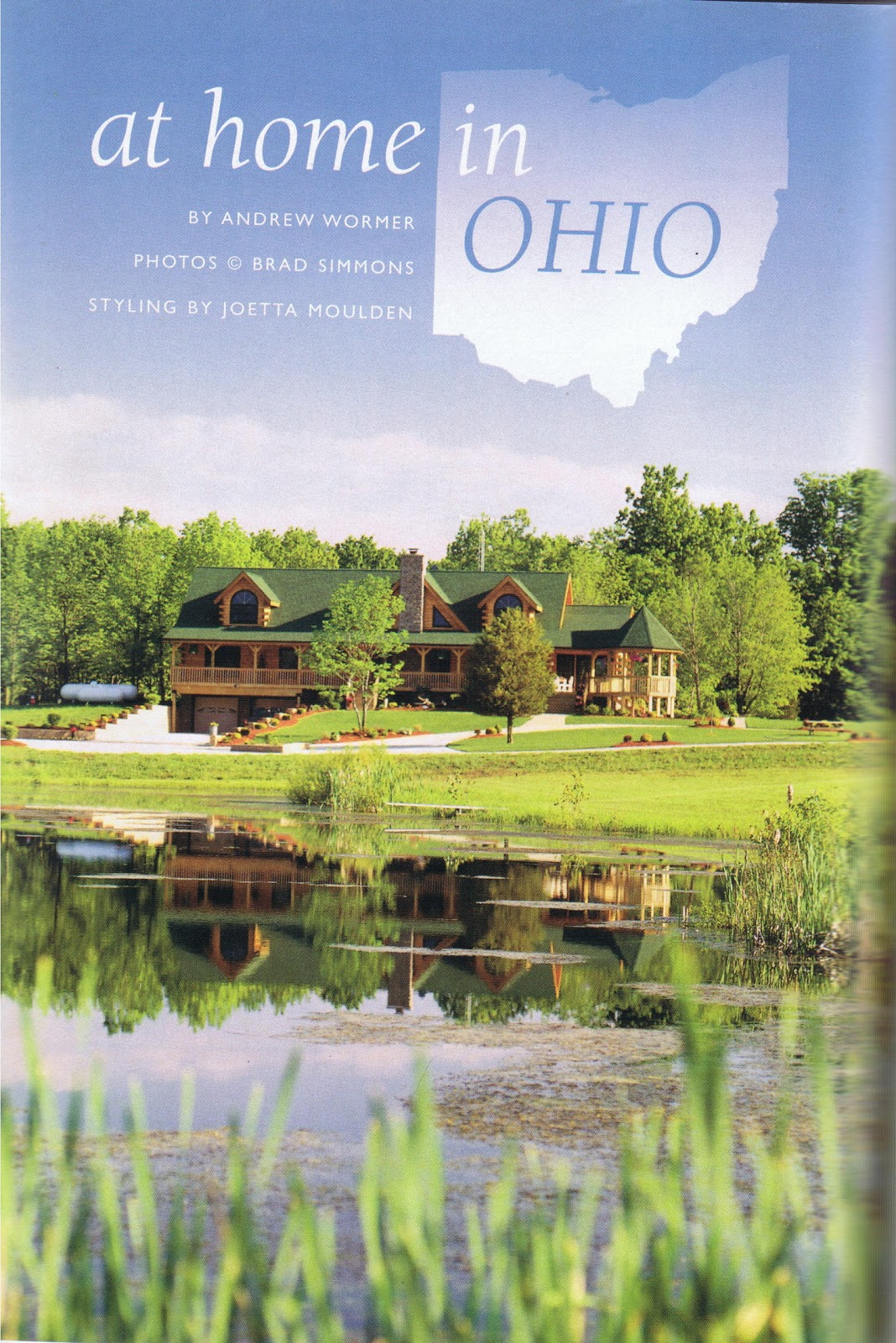 Patriot log home builders at home in ohio magazine article from log home ideas Log home design ideas magazine