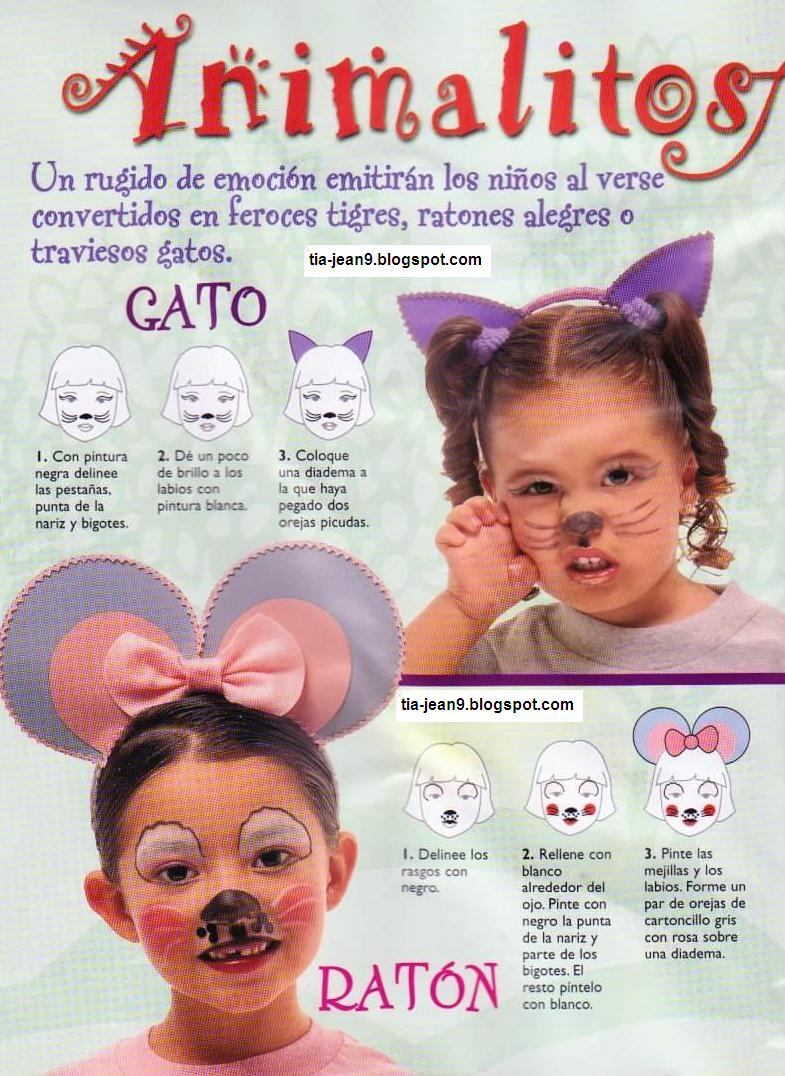 Gato Y Ratona Maquillaje De Fantasia