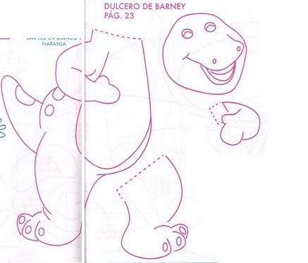 MOLDES DE BARNEY Dulcero