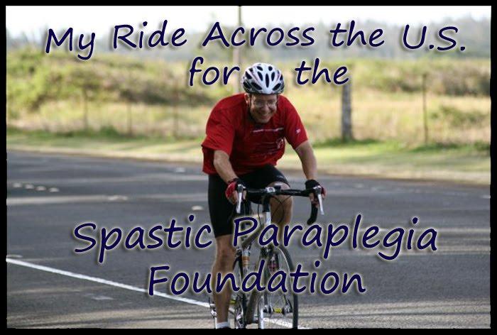 My Ride Across the U.S. for the Spastic Paraplegia Foundation