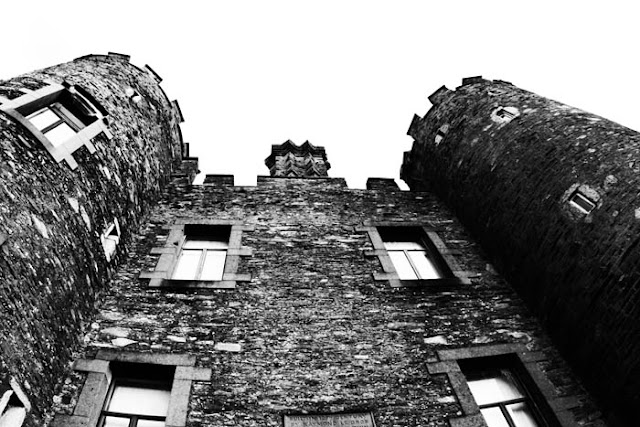 In eastern Ireland looking up at the Enniscorthy Castle.