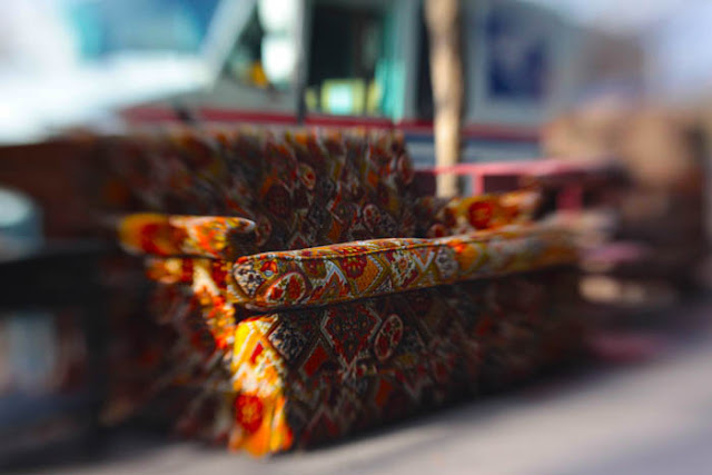 A busy couch shot with a Lensbaby Composer on a sidewalk in Denver.