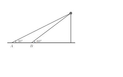 Angulos de Elevacion Trigonometria