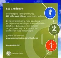 Concurso Ecochallenge Promovido por General Electric