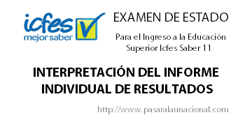 Interpretacin del Informe Individual de Resultados Examen de Estado Icfes Saber 11