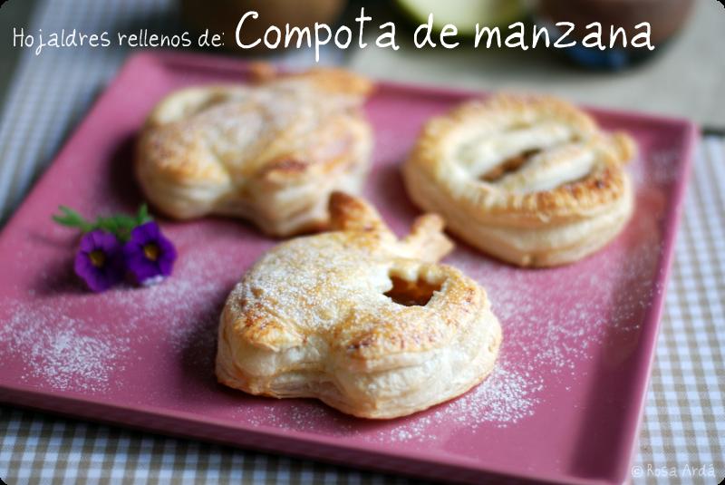 Manzanas de hojaldre rellenas de compota - VelocidadCuchara