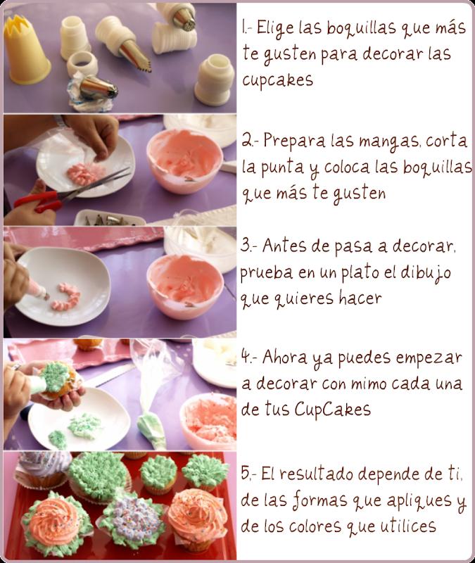 Paso a paso: así se decoran las Cupcakes - Velocidadcuchara.com