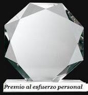 Este blog tiene 2  premios Al esfuerzo personal