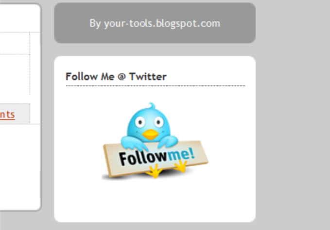 How to Add [Follow Me at Twitter] Button to Blogger