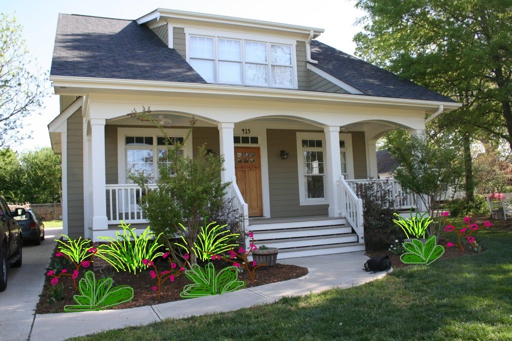 Landscape Front Of House Pictures Ideas : Ideas for landscaping low maintenance front of house
