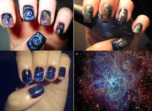 January 2011 by jaymie for Outer space nail design