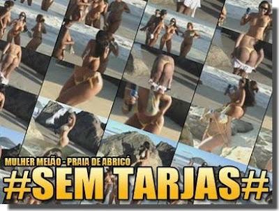 Download Vídeo Praia de Nudismo: Mulher Melão