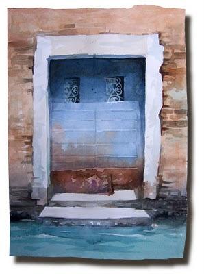 Acuarelas puerta veneciana for Puertas venecianas