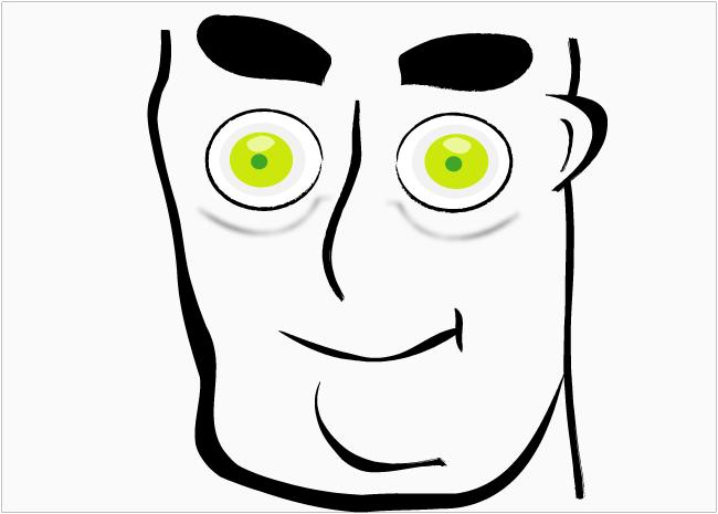 Vector Man Face