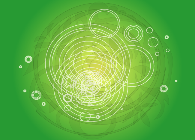 Abstract Green Swirly Design Background Vector Graphic