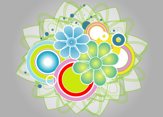 Abstract Colorful Vector Graphic Design