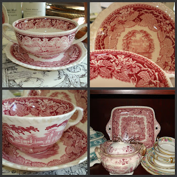 My Red &amp; White Transferware