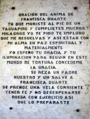 Oración para Francisca Duarte