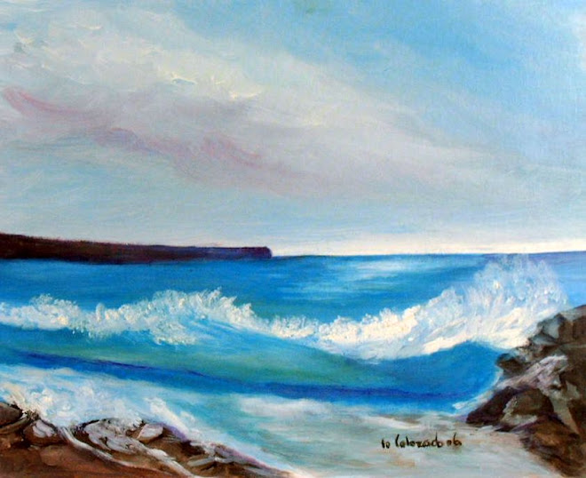 THE BAY SEA. OIL PAUNTING