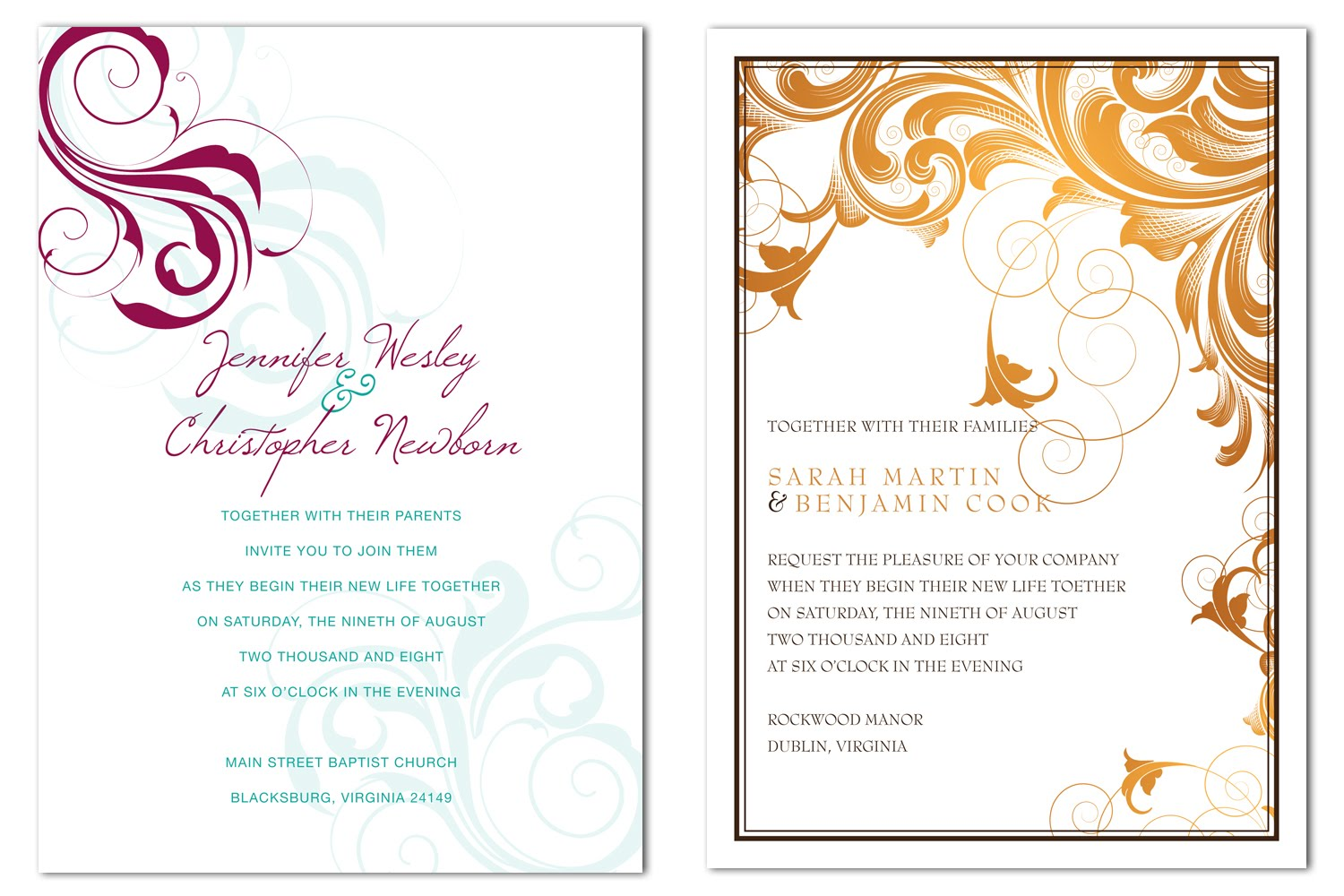 what should the inside of a wedding invitation say - 28 images ...