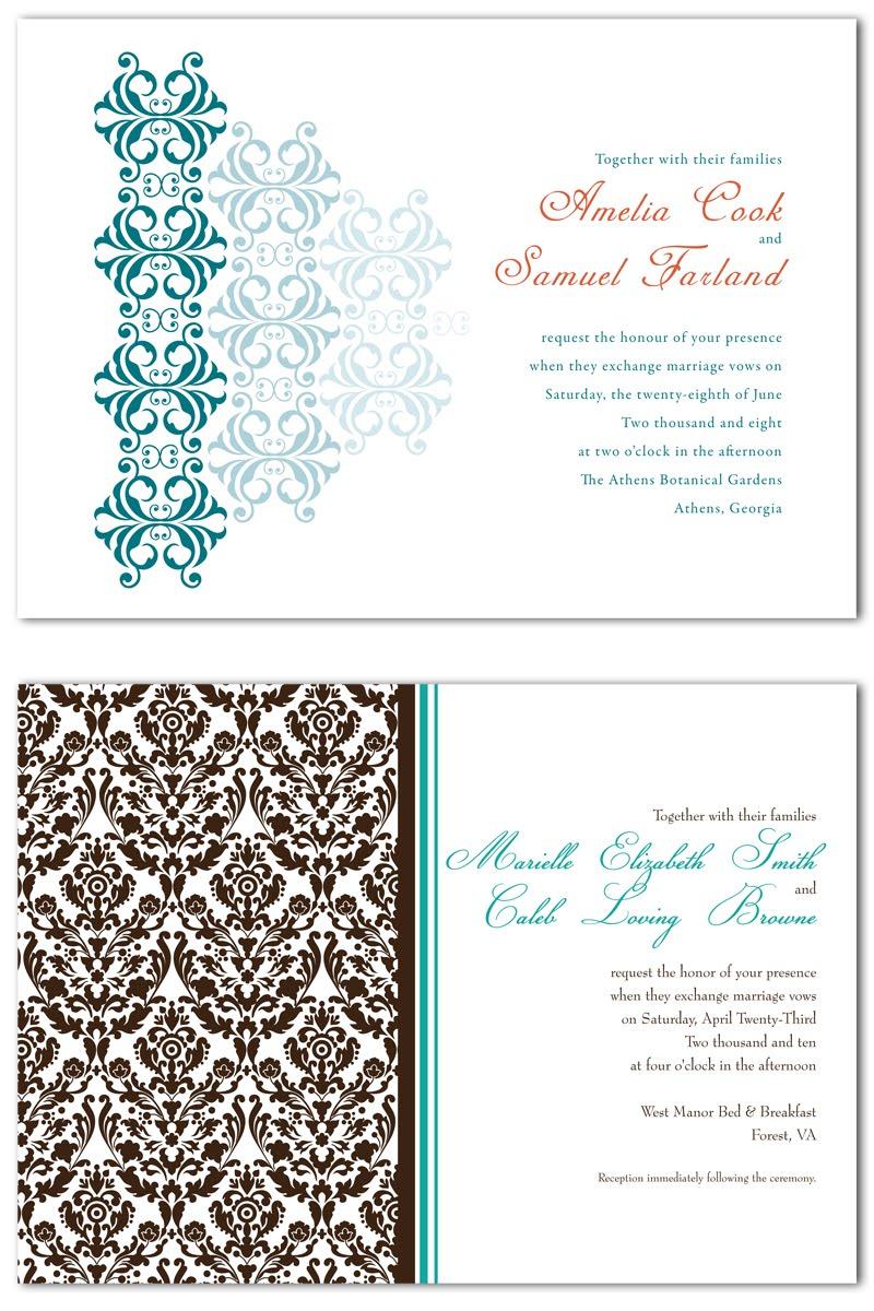 Inside Look Wedding Invitations Ashlee Proffitt