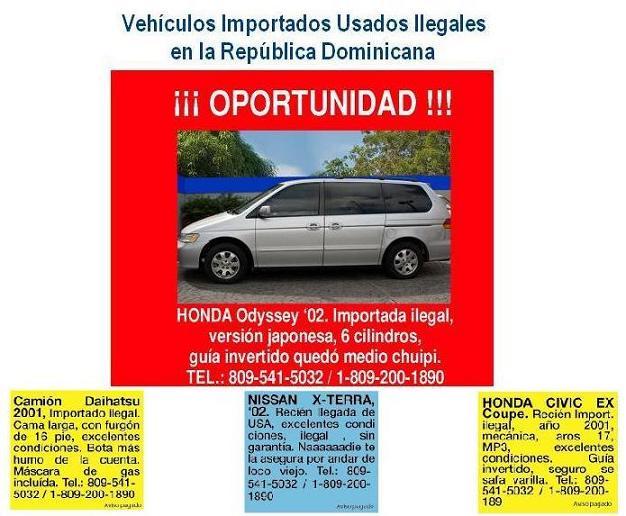 Vehículos Importados Usados Ilegales en la República Dominicana