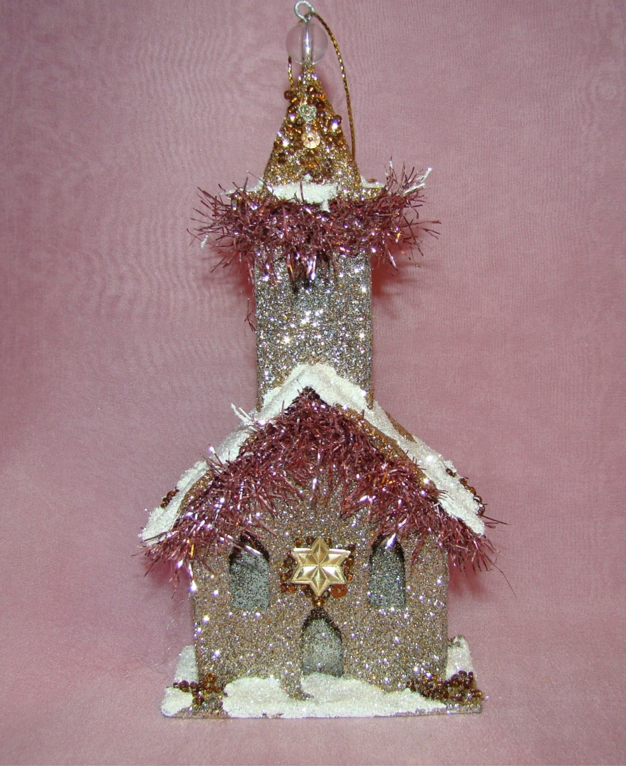 Look in the nook vintage pink victorian christmas for What to do with old christmas ornaments