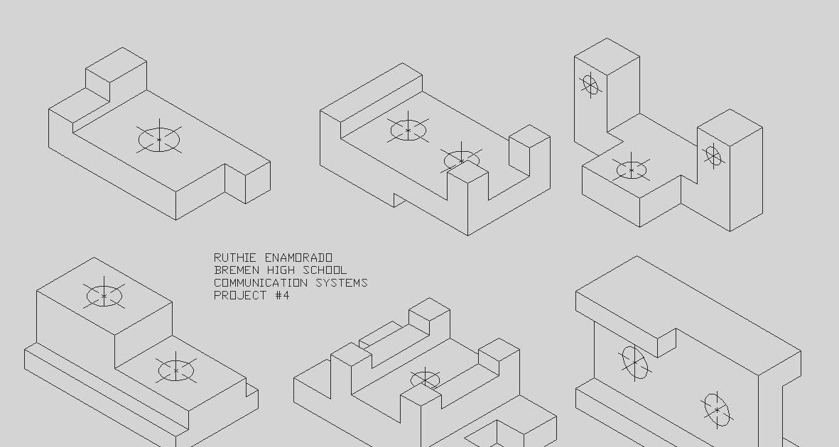 gym equipment  isometric drawings by ruthie enamorado