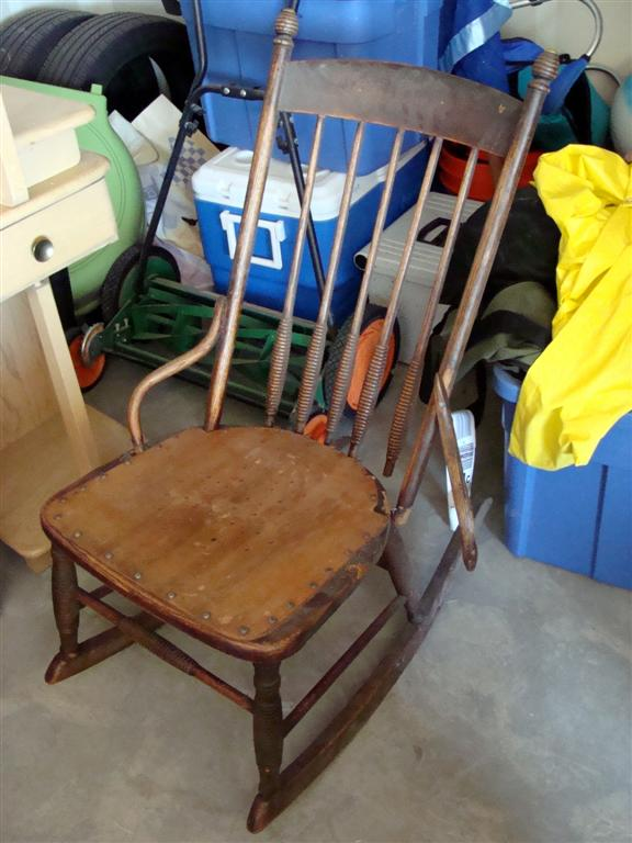 The Sweet Old Man Who Owned The Rocker Didnu0027t Know Its Exact Age But  Estimated It To Be About 100 Years Old. It Was In Pretty Bad Shape, ...