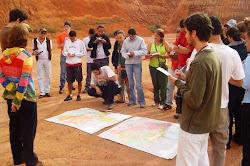 Campo da disciplina Geomorfologia, Mineralogia e Pedologia