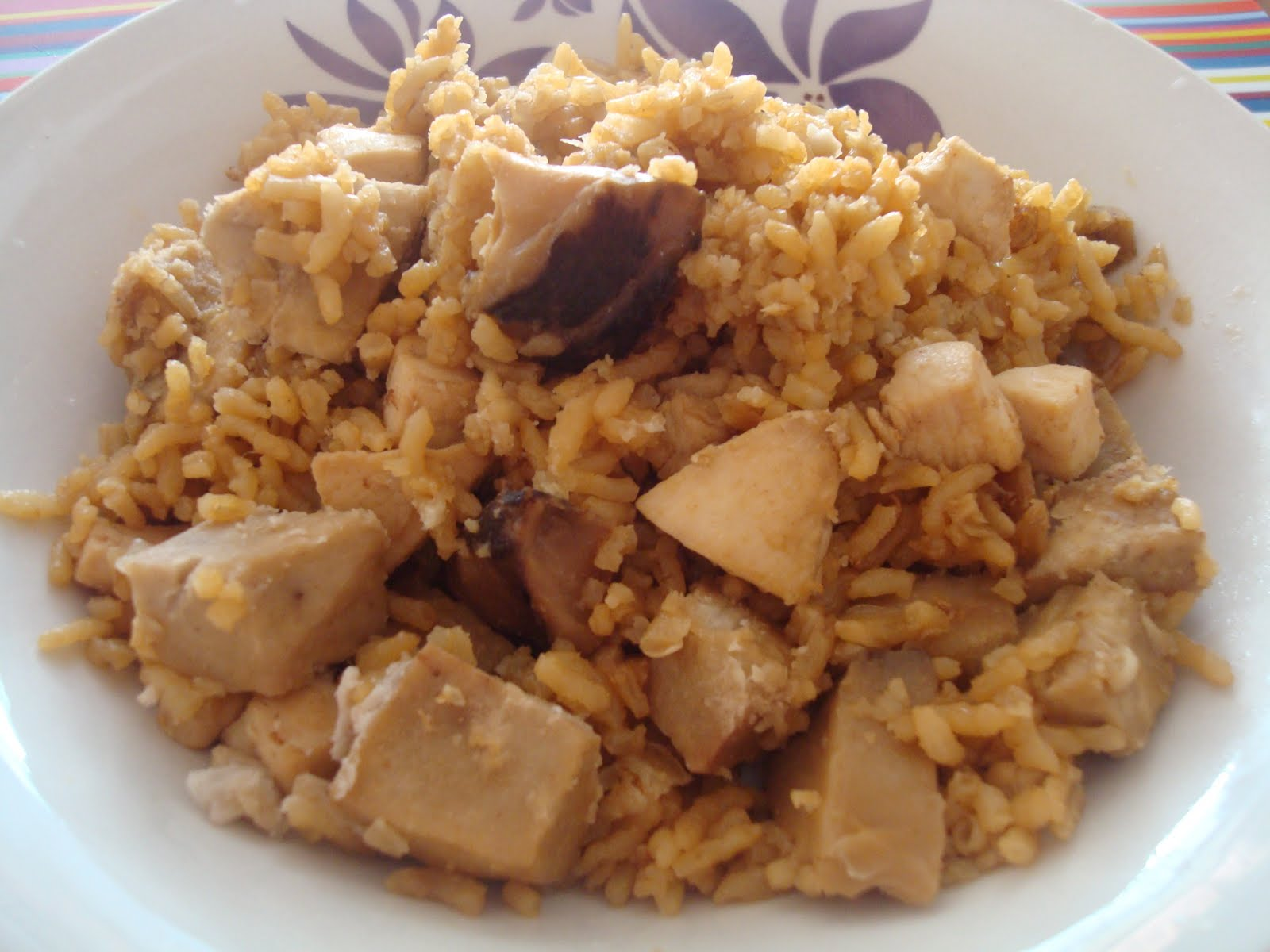 Yam Rice with Chicken