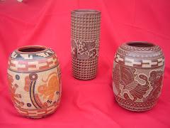 Vaso Mayas Medianos y Vaso Cilindrico
