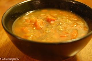 Soupe aux carottes et lentilles