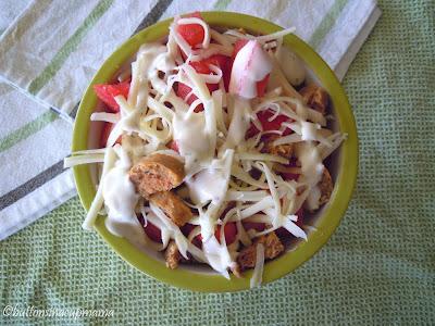 Salade de melon d'eau et saucisse italienne forte