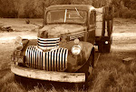 The old flat bed truck