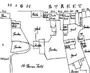 Site of Medieval galleried Inn perhaps?