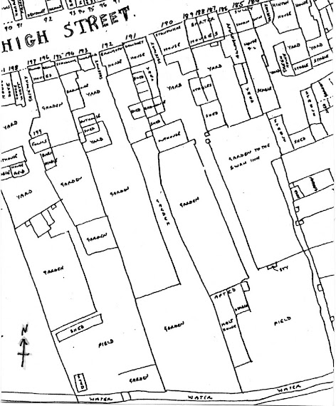 Plan of the High Street Brewery, taken from Bryant's Survey, 1786