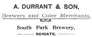 Durrant advertisment, 1908