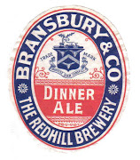 Bransbury & Co's Dinner Ale label c1906-1913
