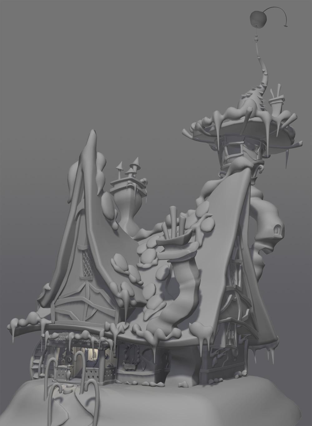 Maya house model