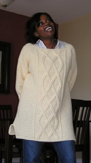 cable tunic, hip length