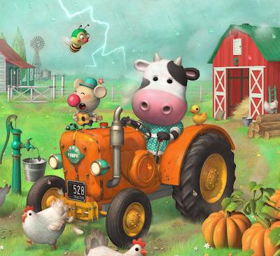 La pecera vaca en tractor for Jardin de genios revista 2016