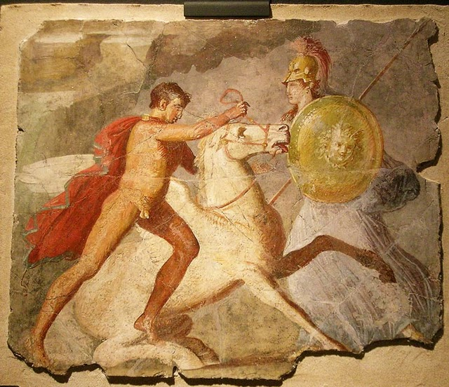 Pegaso, Belerofontes y Atenea