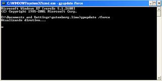 GPUPDATE /FORCE aplicando as novas diretivas/GPOs