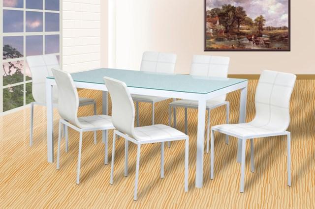 Domoya home antecomedor euro mk 6 sillas mesa de cristal Sillas para antecomedor