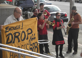 The Brass Liberation Orchestra plays for the SF 8