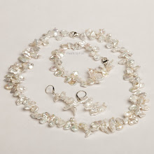 Keshi Pearl Necklace, Bracelet & Earring Set (Click on Pic to see More)