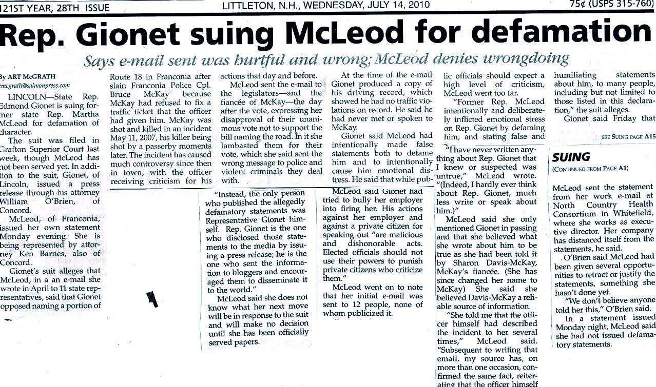 Kelly Ayotte was a Horrible NH AG and Freshman Senator: July 2010