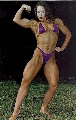 Bodybuilder women having sex